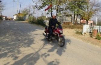 Bursa'da motosiklet tutkunu Rüzgar'ı görenler hayrete düşüyor!