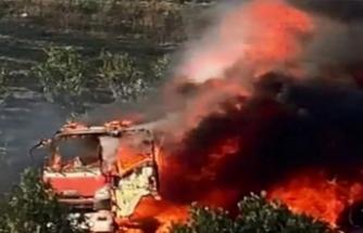 Bursa otobanında benzin tankeri alev alev yandı!