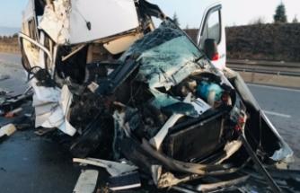 Bursasporlu taraftarlar trafik kazası geçirdi!