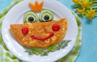 İştahsız çocuğa gülen yüzlü yemek!