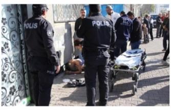 Polise jiletle saldırdı, vurularak durduruldu!