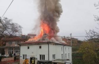 Bursa'da camide yangın paniği!
