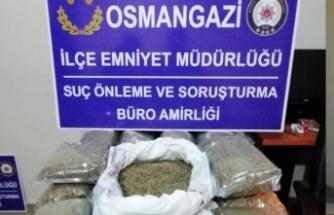 Bursa'da durdurulan araçtan çıktı! Tam 15 kilogram