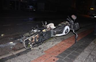 Bursa'daalev alan motosikletini bırakıp kaçtı