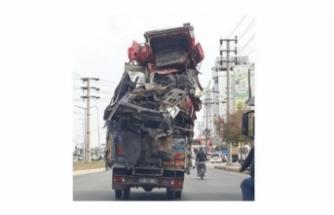Trafikte tepki çeken görüntü