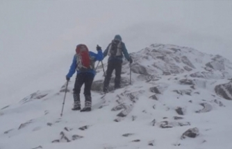 Uludağ'da dağcıların kaybolduğu gün göz gözü görmüyormuş!