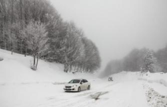 Ulaşıma kar ve sis engeli!
