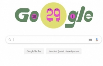 Artık yıl Google tarafından Doodle yapıldı