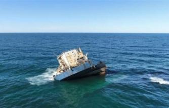 """""""Natalia""""nın su üzerinde sadece kaptan köşkü kaldı"""