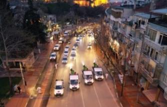 Bursa'nın en işlek caddesinde korona temizliği