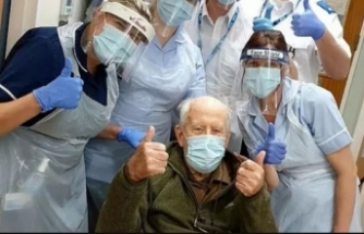 101 yaşında koronayı yendi