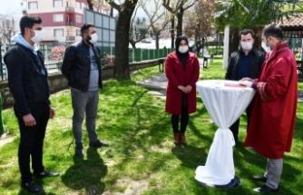 Bursa'da nikahlar açık havada kıyılıyor