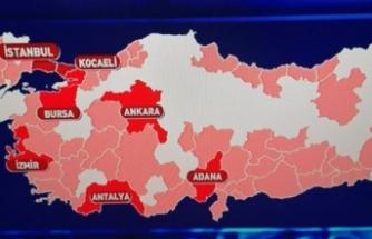 Koronavirüs risk haritasında Bursa 5. sırada!