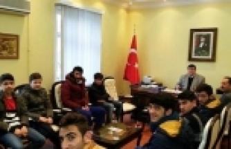 VOLEYBOLCULARDAN SORGUN KAYMAKAMI ARSLANTAŞ'A ZİYARET