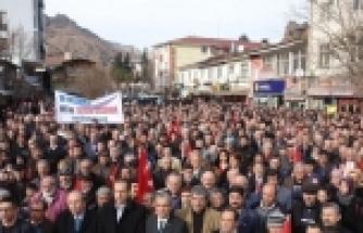YUSUFELİLER'DEN CENAZE NAMAZLI, TABUTLU EYLEM