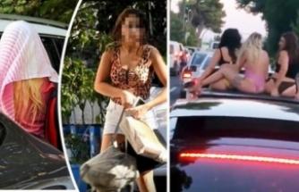Bursa plakalı üstü açık otomobilde dans eden gençler karakolluk oldu!
