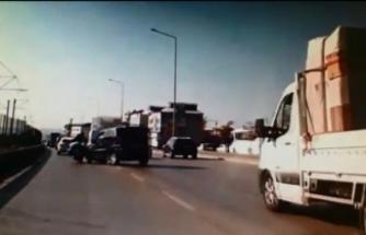 Bursa'da sollama kazası kamerada!