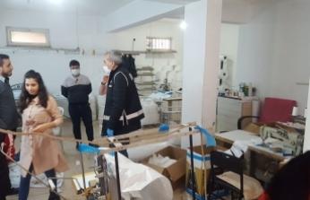Bursa'da kaçak maske ve dezenfektan operasyonu