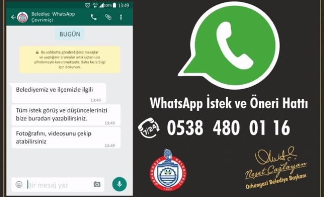 Belediyeden WatsApp ihbar hattı
