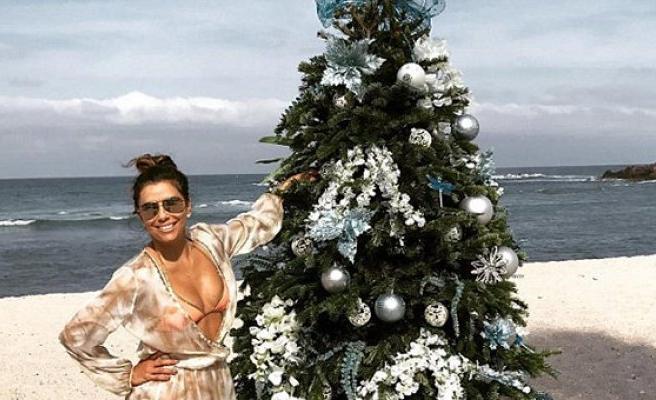 Plajda Noel ağacı