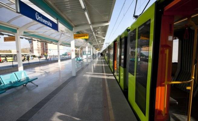 Bursa'da raylı ulaşım ücretsiz