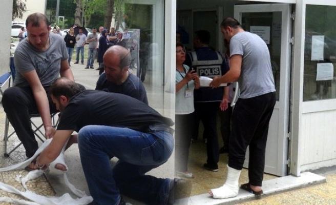 Bursa'da ayağındaki alçıyı bile söktü ama yine de giremedi!