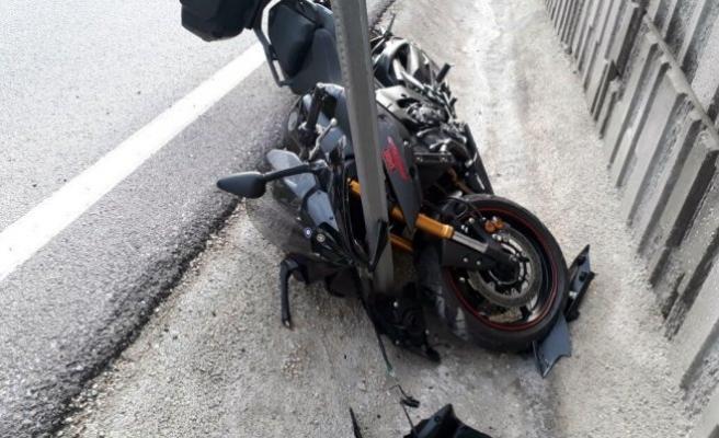 Bursa'da korkunç kaza! Motosikletli çift kanala uçtu