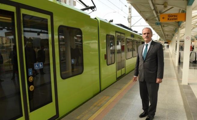 Bursa metrosunda yeni dönem! Kent Meydanı'nda...