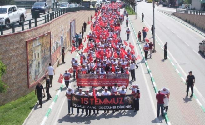 Bursa'da 15 Temmuz yürüyüşü!