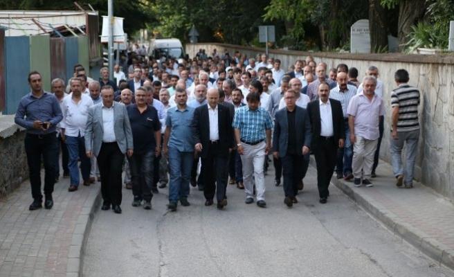 Bursa'da 15 Temmuz'u anma nöbeti başladı