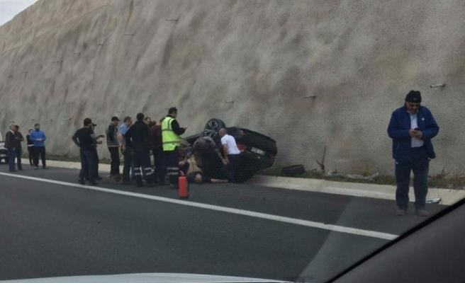 Bursa'da feci kaza! Çevreden yetişenler kurtardı