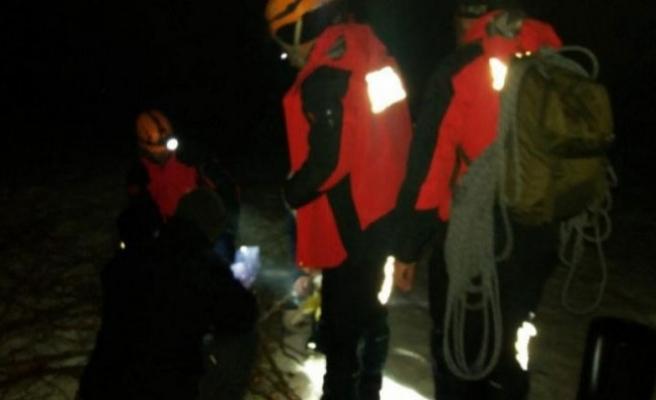Uludağ'daki kurtarma operasyonuna fırtına engeli!