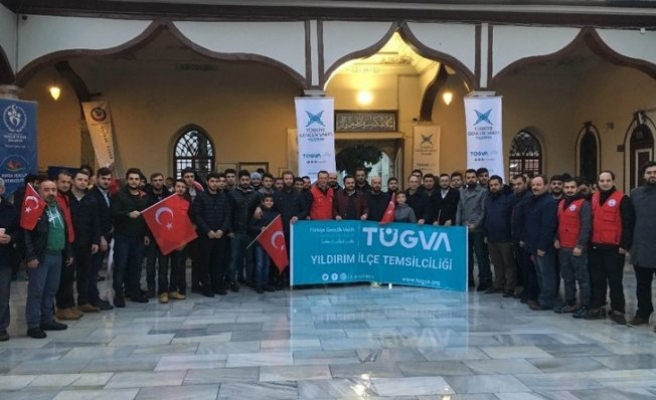 Bursalı gençler 'Zeytindalı Harekatı'na dualarla destek oldu
