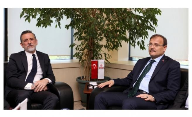 Başbakan Yardımcısı Çavuşoğlu'ndan BTSO'ya hayırlı olsun ziyareti