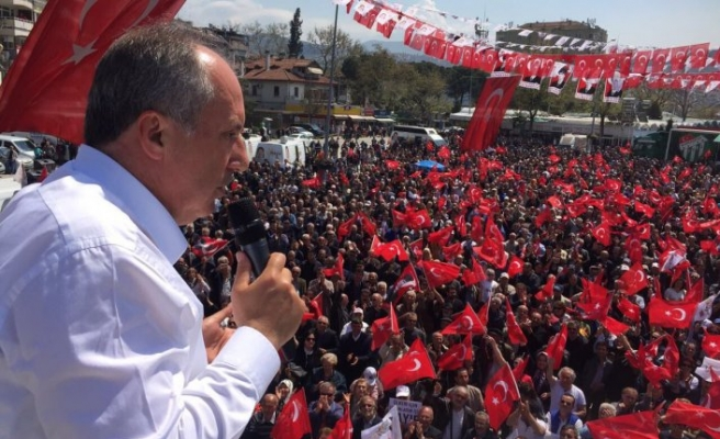 Muharrem İnce'den Erdoğan'a mitingde görüntülü cevap