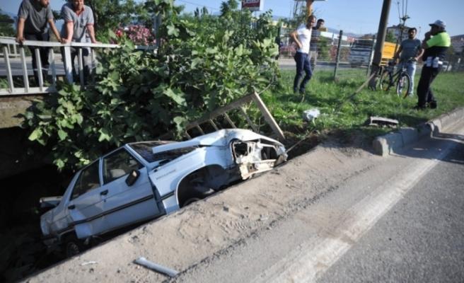 Bursa'da korkunç kaza! Ölümden döndü