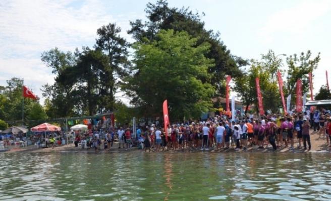Bursa İznik triatlonuna rekor katılım