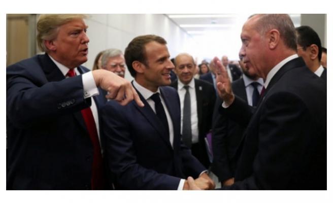 Erdoğan ve Macron ile bir araya geldi