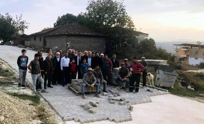 Bursa Marmaracık köyünde parke taşı sevinci