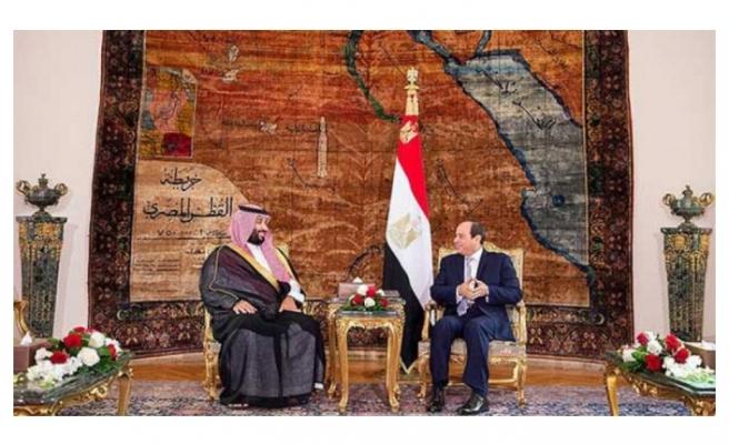 Bin Selman'ın Mısır ziyaretinde bayrak şoku!