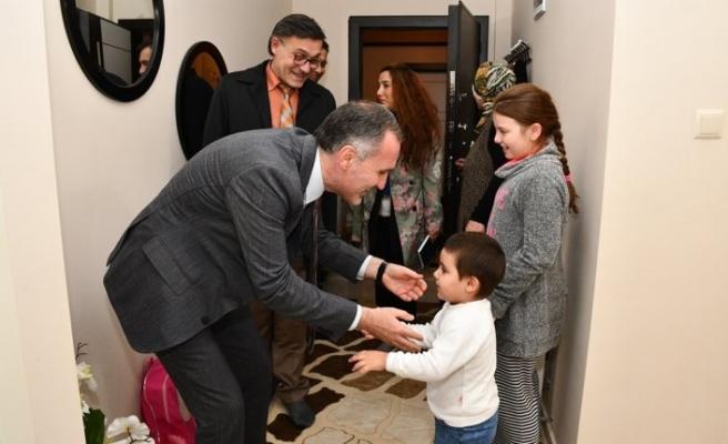 Başkan Taban engelli aileleri unutmadı