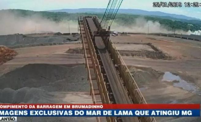 Brezilya'da çöken barajın güvenlik kamera görüntüleri yayınlandı