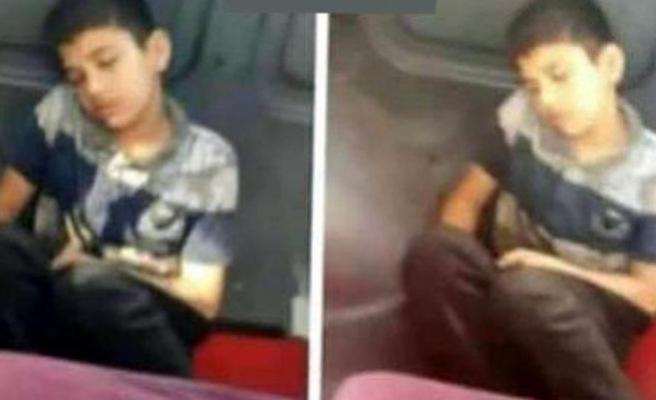 Bu görüntü isyan ettirdi! Üzeri kirli diye koltuktan kaldırıp yere oturttu