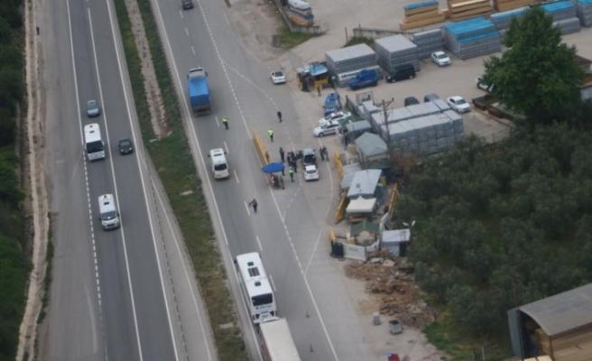 Bursa'da trafiğe helikopterli denetim
