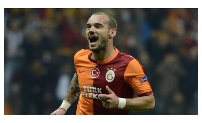 Galatasaray taraftarını heyecanlandıran Wesley Sneijder gelişmesi