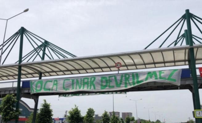 Kentin dört bir yanı Bursaspor pankartlarıyla süslendi!