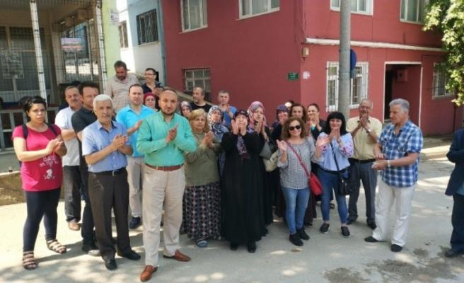 Bursa'da mahalleliden boşaltma kararına tepki!
