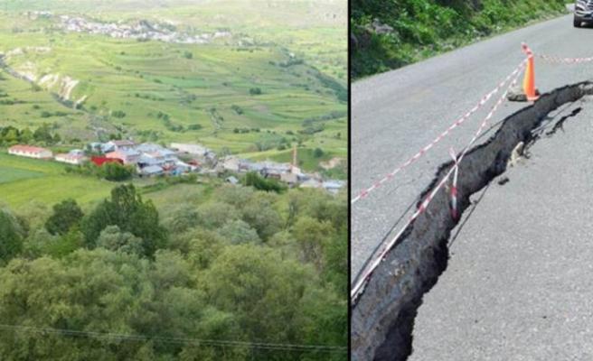 Köy heyelan riski nedeniyle boşaltıldı