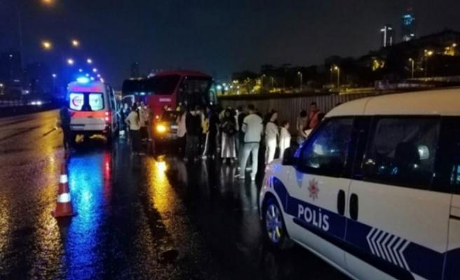 Faciadan dönüldü! 45 yolcusu bulunan otobüs...