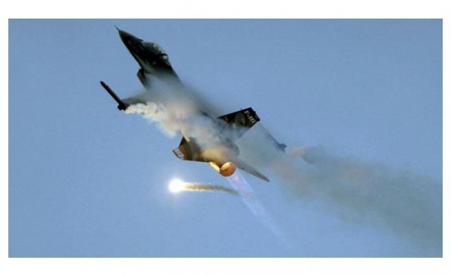 Belçika Hava Kuvvetleri'ne ait F-16 düştü!